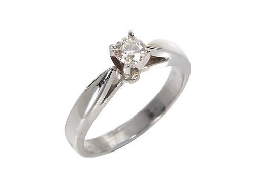 14ct White Gold Diamond Solitaire Ring 0.25ct