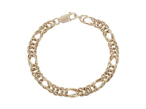 9ct Gold Fancy Figaro Link Bracelet 11.8g
