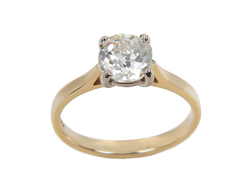 18ct Yellow Gold Diamond Solitaire Ring 1.10ct