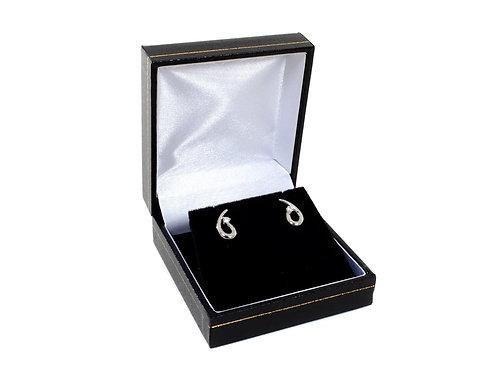 18ct White Gold  Diamond Earrings  0.16ct