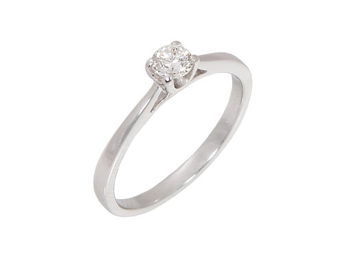 9ct White Gold Diamond Solitaire Ring 0.25ct