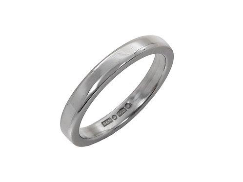 Platinum Ladies Wedding Ring Uk Size M Width 2.6mm