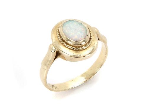 14ct Yellow Gold Opal Dress Ring