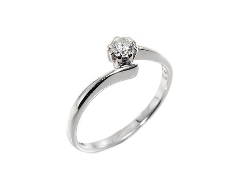 18ct White Gold Diamond Solitaire Ring 0.23ct