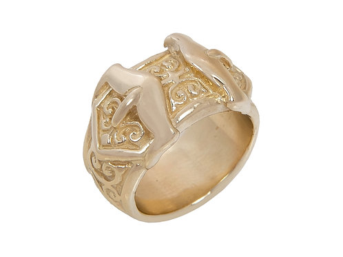 9ct Gold Children's Double Buckle Ring 10.9g