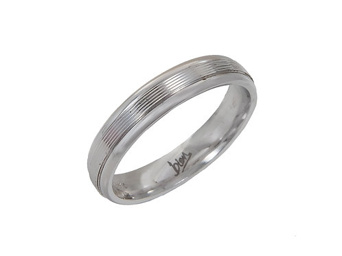 18ct White Gold Wedding Ring Uk Size M Width 4mm