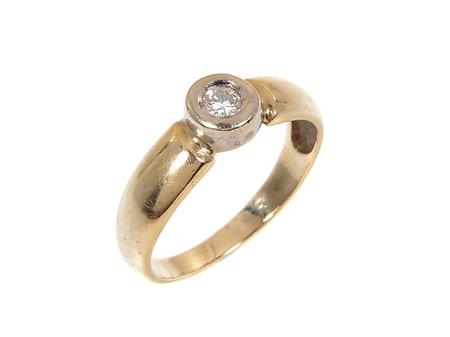 18ct Yellow and White Gold Diamond Ring 0.18ct