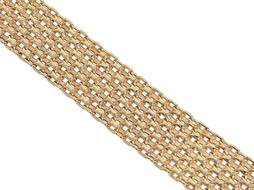 9ct Gold Panther Link Chain 16g