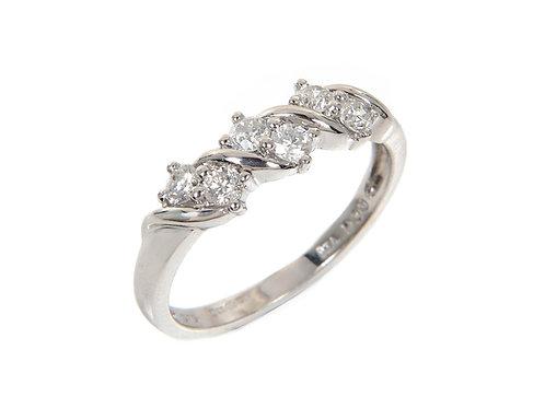 9ct White Gold Diamond Ring 0.33ct