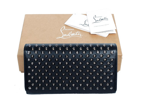 Christian Louboutin Macaron Wallet in Black with Box Dust Cover & Tag