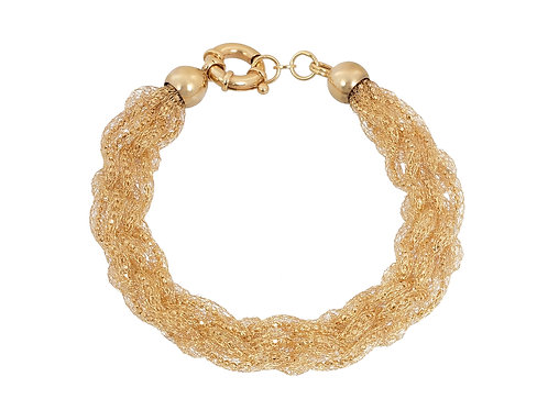 9ct Gold Soft Bead Bracelet 9.7g