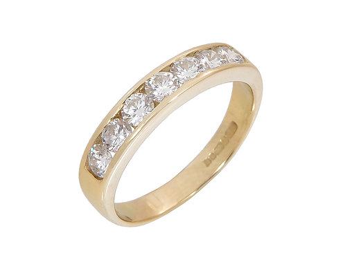 18ct Yellow Gold Diamond Eternity Ring 0.85ct
