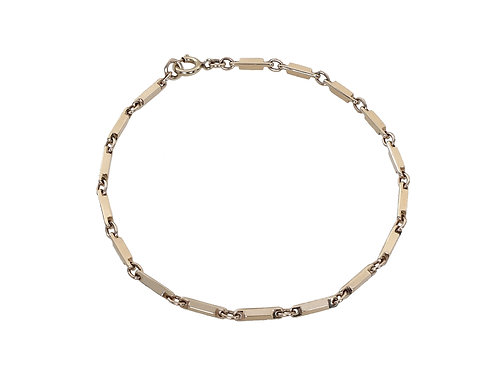 9ct Yellow Gold Ladies Bar and Link Bracelet 4.8g
