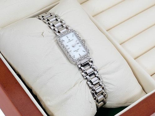9ct White Gold Diamond Ladies Sovereign Watch