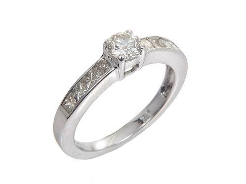 18ct White Gold Diamond Ring 0.75ct