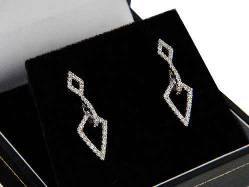18ct White Diamond Drop Earrings 0.48ct