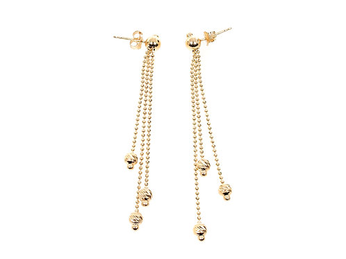 9ct Yellow Gold Long Dangle Earrings 3.3g