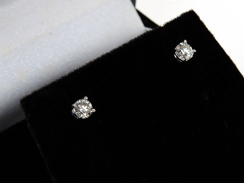 9ct White Gold Diamond Solitaire Diamond Earrings 0.48ct