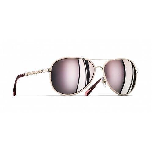 Chanel Pilot Sunglasses Mirror Pink