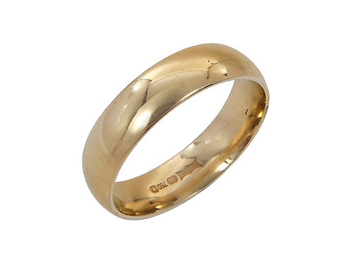 18ct Yellow Gold Wedding Ring Uk Size O 5mm Wide