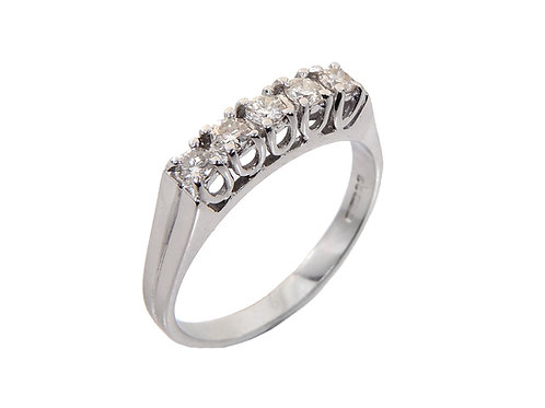 18ct White Gold Diamond Eternity Ring 0.33ct