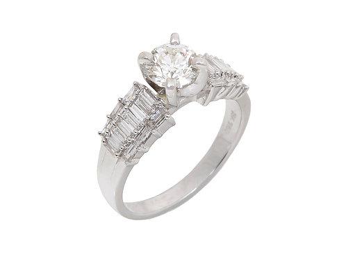 18ct White Gold Diamond Ring 1.01ct