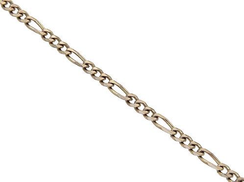 9ct Yellow Gold Figaro Chain 7.3g