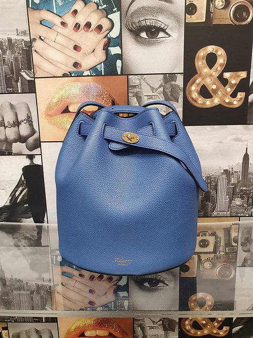 Mulberry Abbey Classic Grain Bucket Bag in Porcelain Blue