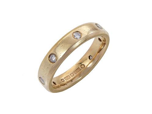 18ct Yellow Gold Full Diamond Eternity Ring Uk Size I