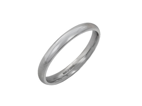 Gents Platinum Wedding Ring Uk Size T Width 3mm