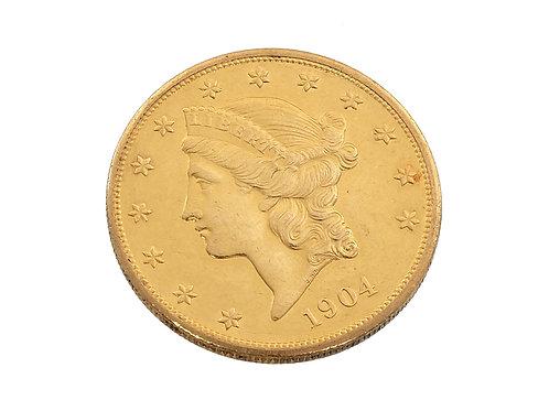 1904 $20 Gold Coin