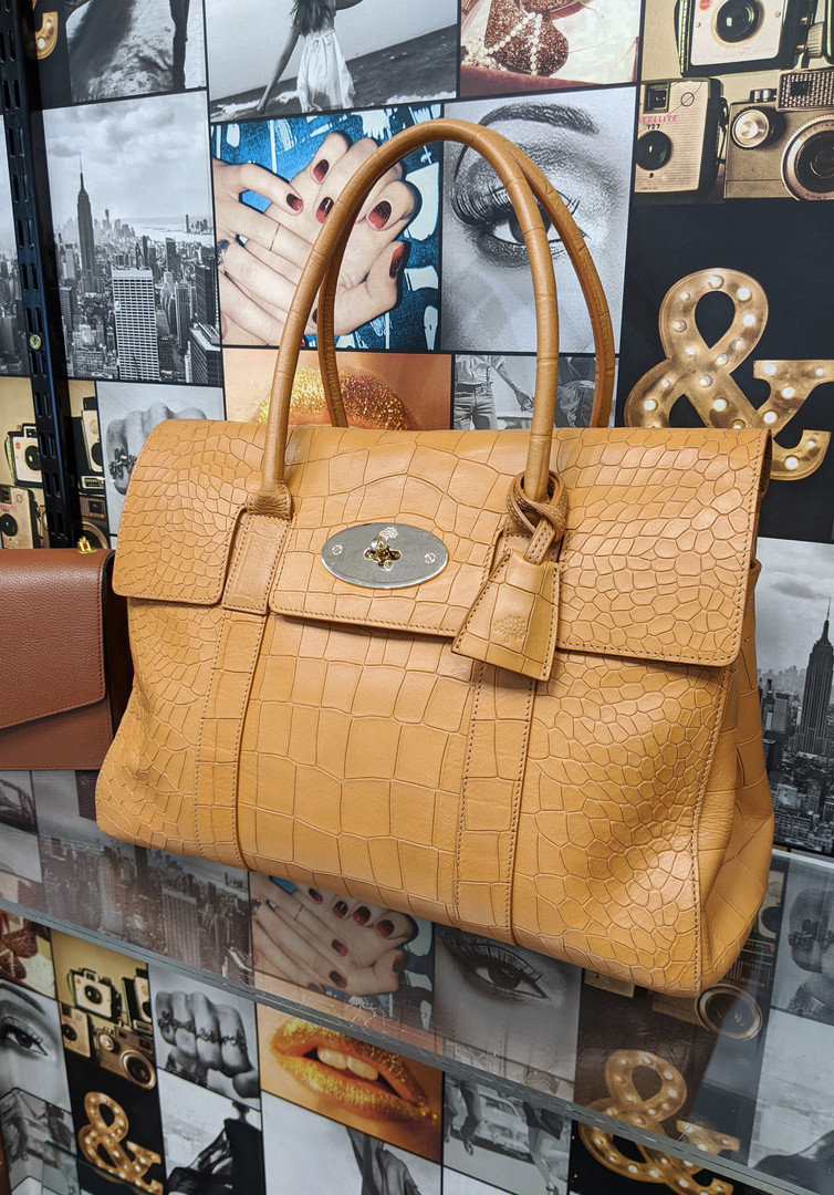 Mulberry Bayswater Crocodile