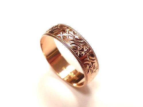 9ct Rose Gold Wedding Ring Uk Size R