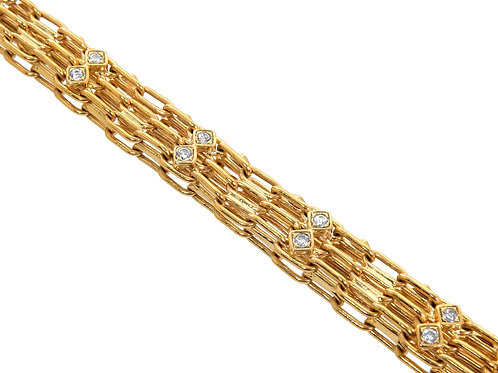 9ct Yellow Gold CZ Cage Chain114.3g