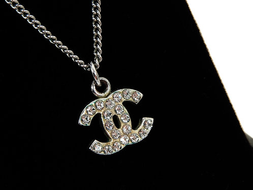 Chanel Vintage CC Crystal Necklace