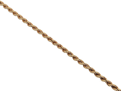 9ct Gold Rope Chain 12.7g