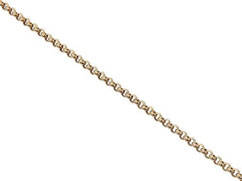 9ct Yellow Gold Plain Belcher Chain 7.8g