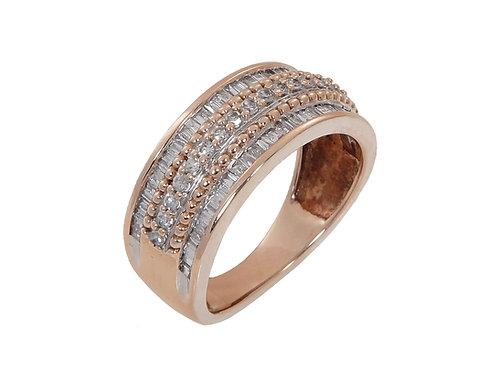 9ct Rose Gold Diamond Ring 1.00ct