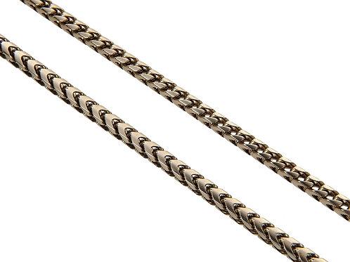 9ct Yellow Gold Ladies Box Bone & Curb Link Chain 36g