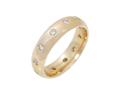 18ct Yellow Gold Diamond Wedding Ring 0.24ct
