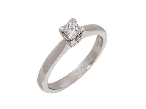 Platinum Princess Cut Diamond Solitaire Ring 0.23ct