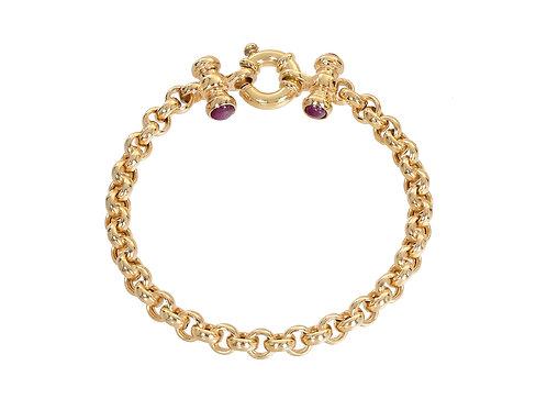 9ct Gold Ladies Belcher Bracelet 12.6g