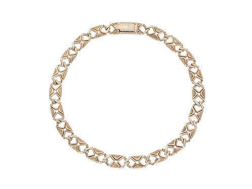 9ct Gold Unusual Link Bracelet 8.7g