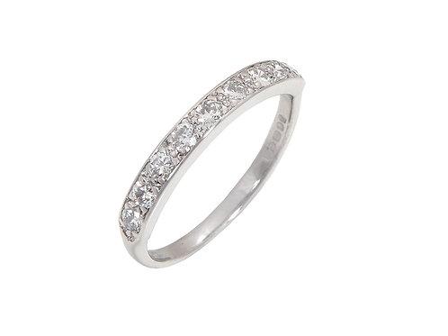 Vintage 18ct White Gold Diamond Eternity Ring 0.27ct