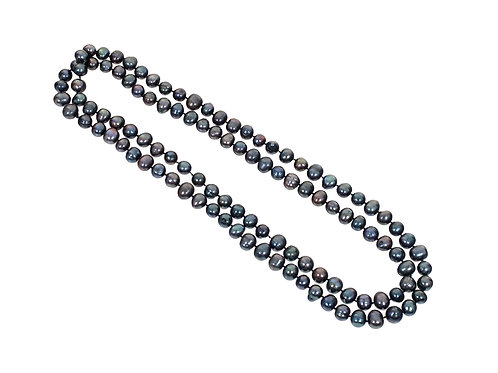 Tahitian Black Pearl Long Necklace