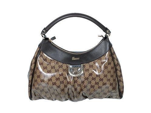 Gucci Abbey Hobo Bag in coated canvas New
