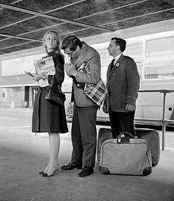 Chanel bag bus travel