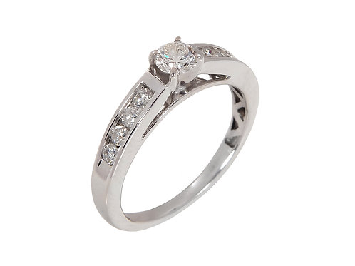 18ct white Gold Diamond Solitaire Ring 0.54ct