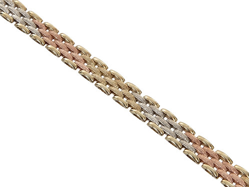 9ct Tri-Gold Panther Link Chain 29.7g