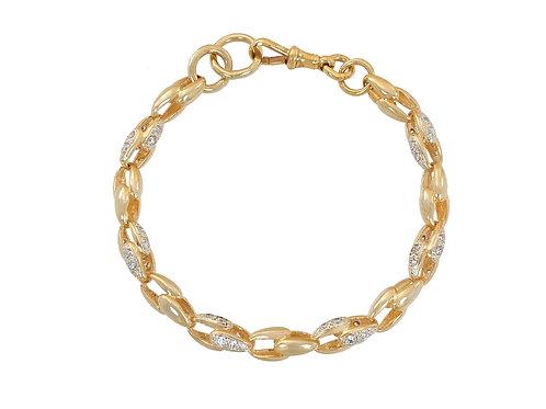 9ct Gold Unusual Link Bracelet 21.7g